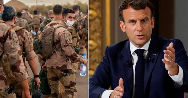Macron: Franskledd insats i Mali avslutas