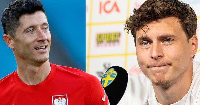 """Lindelöf om hotet från Lewandowski: """"Slappnar man av en sekund kan han göra mål"""""""