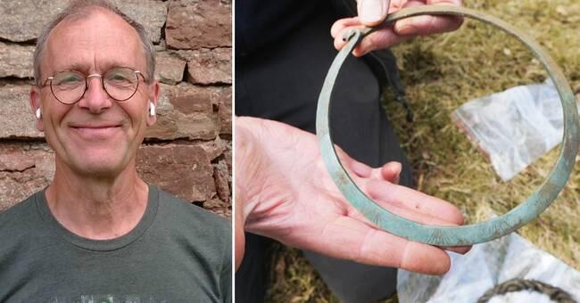 Skulle rita orienteringskartor utanför Alingsås – hittade bronsåldersskatt
