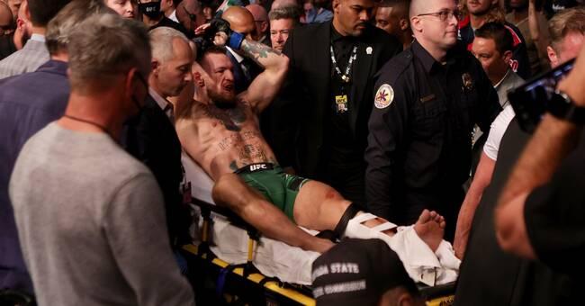 McGregor bröt benet och förlorade