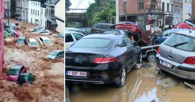 Nya översvämningar i Europa: 25000 blixtar, bortspolade bilar