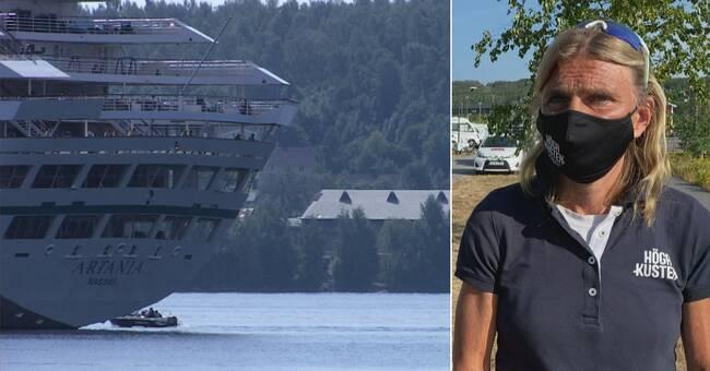 Kryssningsfartyget Artania i hamn – besökte Örnsköldsvik