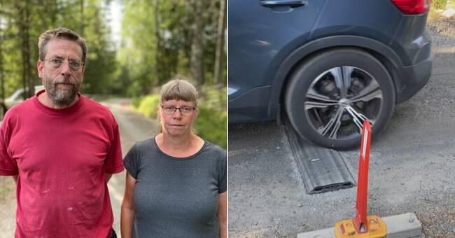 40000 bilar korsade paret Berglunds tomt förra året – nu har byborna tröttnat