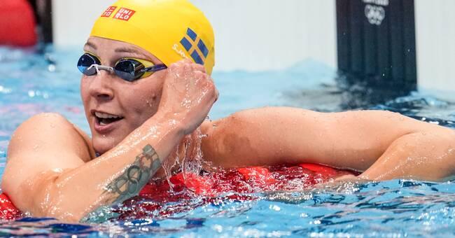 Sarah Sjöström till final på 100 meter fritt