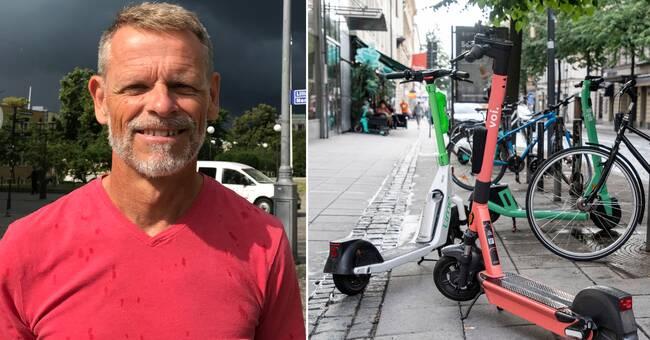Elsparkscyklar kan komma att portas från vissa gator