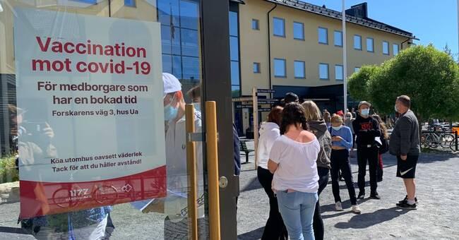 Stort intresse för vaccinering bland ungdomar i Östersund