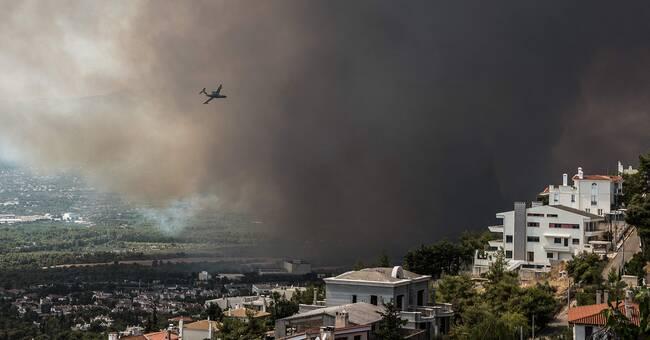 Svenska plan mitt i grekiskt brandinferno