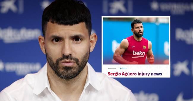 FC Barcelonas Sergio Aguero skadad – borta tio veckor