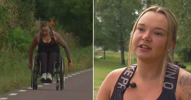 Julias ilska: Får inte köra Göteborgsvarvet med rullstol