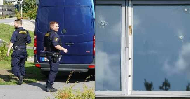 Misstänkt skottlossning mot lägenhet Växjö – flera kulhål i fönster