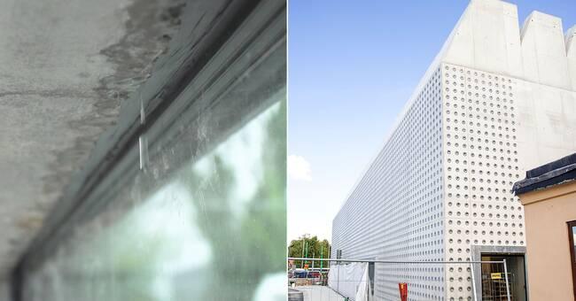 Regnvatten läcker in i nybyggda konsthallen Liljevalchs