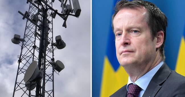 """Anders Ygeman om bristande mobiltäckning: """"Alla ska ha bra täckning 2023"""""""