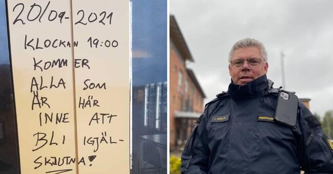 Klotter med olaga hot på flera ställen i Karlstad – kvinna anhållen