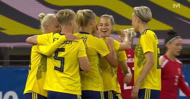 Sverige-Georgien – se damernas VM-kval i fotboll