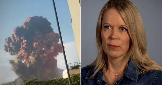 """Stina Blomgren om Beirut-explosionen: """"Jag ropade – bort från fönstren!"""""""