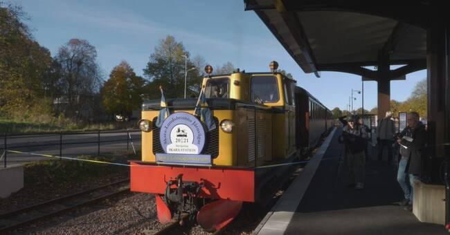 Skaras nygamla järnvägsstation invigd