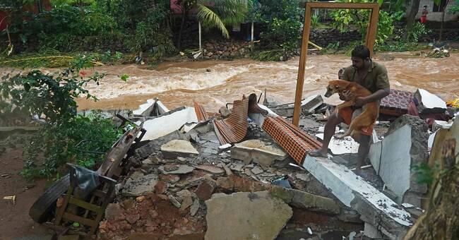 Dödstalen stiger efter översvämningarna i Indien