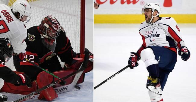 NHL-rekord av Ovetjkin – mot två svenska målvakter