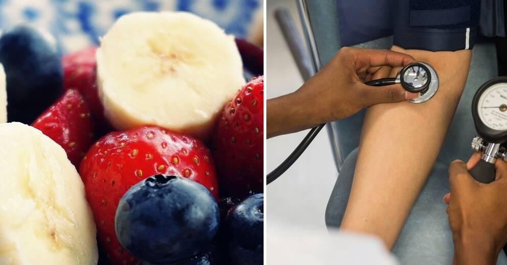 mat för att sänka blodtrycket