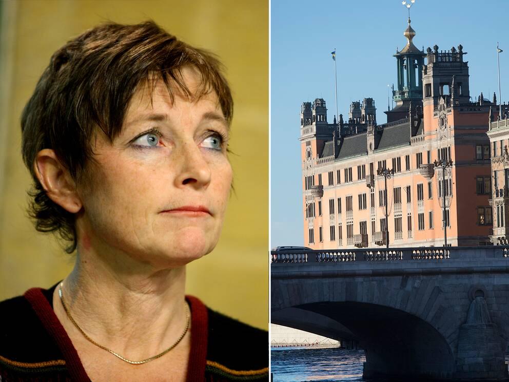 Maria Ågren och regeringskansliet Rosenbad