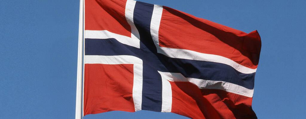 En norsk flagga.