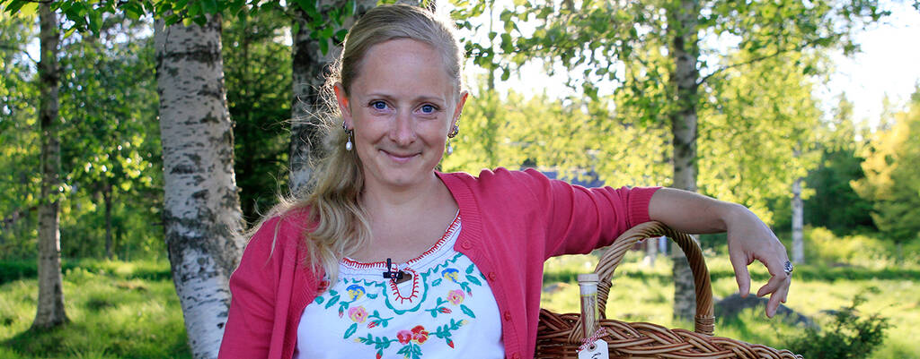 Alexandra De Paoli i Örtskolan.