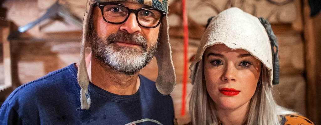 Kristina Keyyo Petrushina och Johan Rheborg i realityserien Keyyo med Rheborg i Ryssland.
