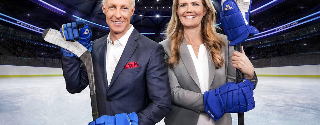 Marie Lehman och André Pops – Ishockey-VM i SVT
