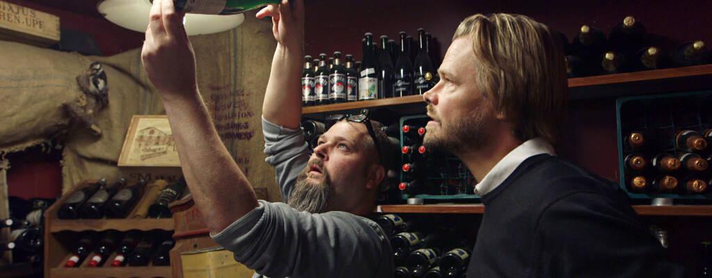 Jonas Steken Magnusson och Stene Isaksson i Den stora ölresan.