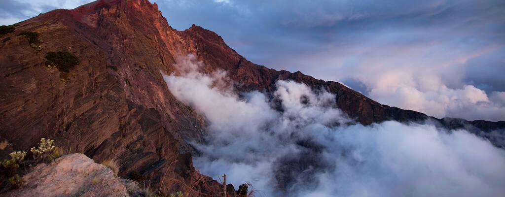 Vulkanen Rinjani i Indonesien.