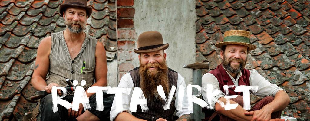Alexander Nordin, Leonard Nordin och Nils Johan Palm är timmermännen i Rätta virket.
