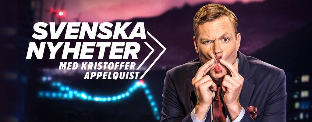 Kristoffer Appelquist, programledare för Svenska nyheter.