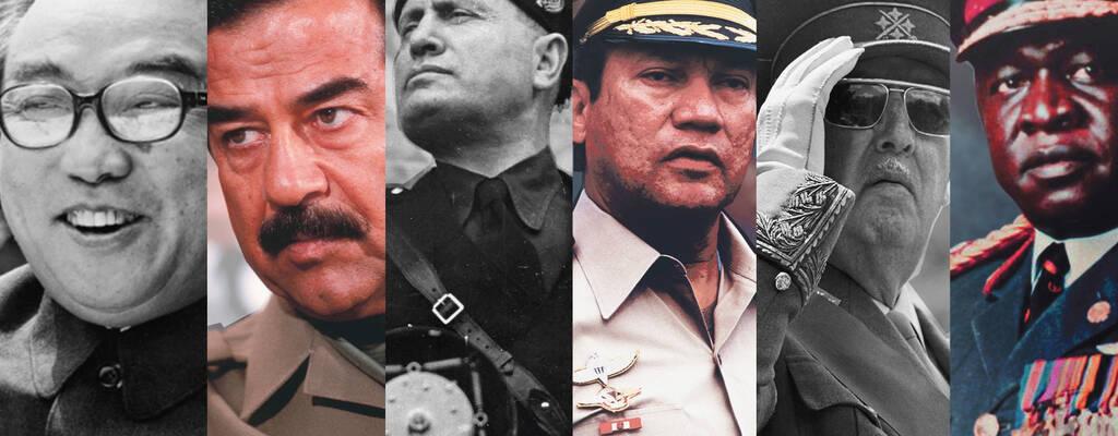 Kim Il Sung, Saddam Hussein, Benito Mussolini, Manuel Noriega, Francisco Franco, Idi Amin.