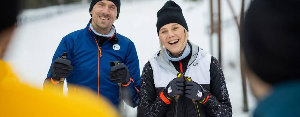 Skidlegendarerna Anna och Johan Olsson