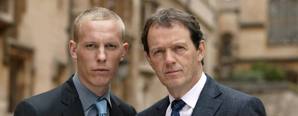 Hathaway (Laurence Fox) och Lewis (Kevin Whately).