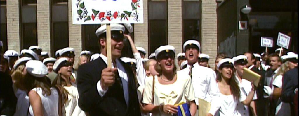 Lidingö 5 juni 1992. Examensdag för 29 studenter i klass E3b.