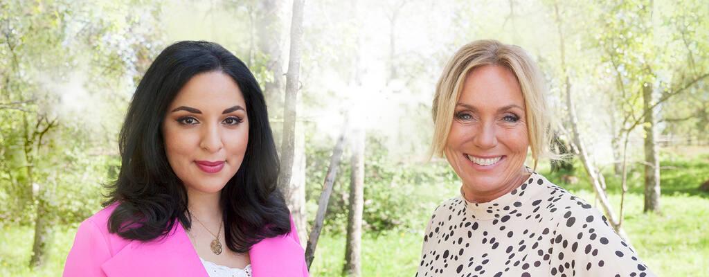Anne Lundberg och Tara Moshizi, programledare för Nationaldagen 2020.