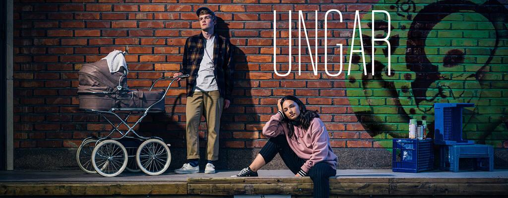 Joona (Vincent Kinnunen) och Asta (Elli Melasniemi) i serien Ungar.