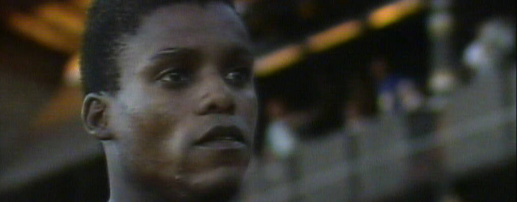 Carl Lewis vid DN-galan 1989.
