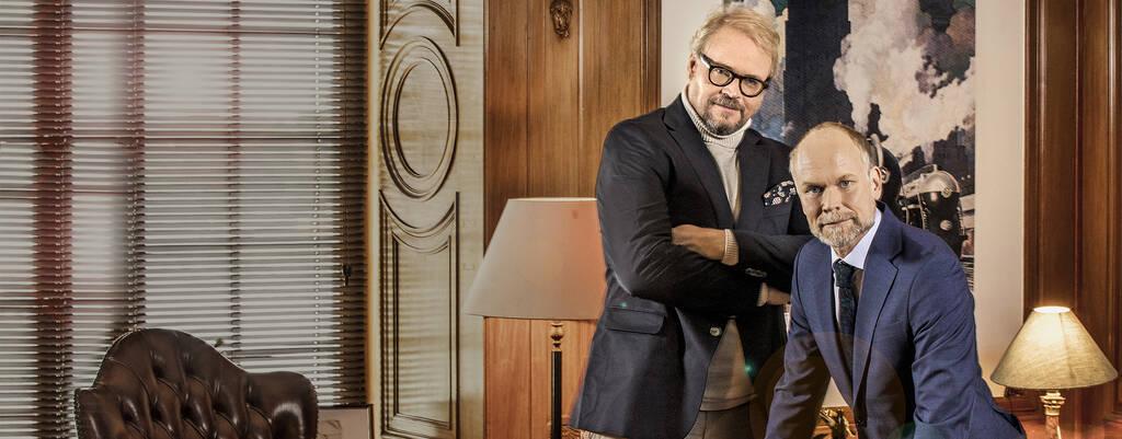 Fredrik Lindström och Kristian Luuk i På spåret.
