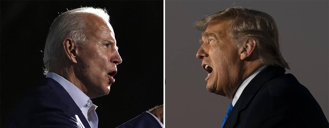 Presidentvalskandidaterna Joe Biden och Donald Trump.