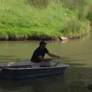 Sjöholm fick ta båten till bollen.