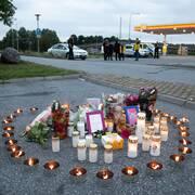 Platsen där den 12-åriga flickan sköts till döds