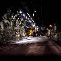 Gruvgång i LKAB:s gruva i Kiruna