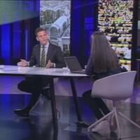 EU-parlamentarikerna Christofer Fjellner (M) och Marita Ulvskog (S) intervjuas av Katia Elliott i EU-parlamentets studio.
