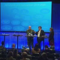 Anna Lindh-Wikblad, biträdande kommundirektör Luleå, Ulf Siverstedt, chef norra militärregionen Försvarsmakten och Björn O. Nilsson, landshövding Norrbottens län.