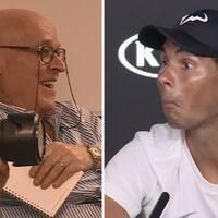 Rafael Nadal kom på jurnalisten Oswaldo när han sov.
