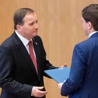 Stefan Löfven (S) och talmannen