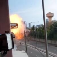 En explosion