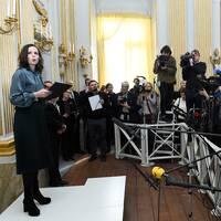 År 2017 var det Sara Danius som tillkännagav Nobelpristagaren i litteratur.